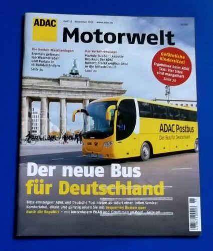 1 von 1 - ADAC Motorwelt ,Zeitschrift  Heft  11  November 2013