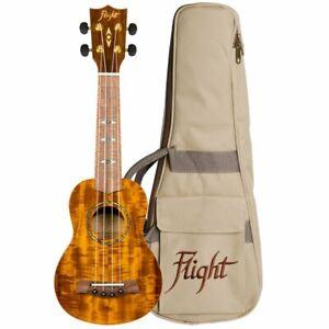 Flight Glossy Acacia Soprano Ukulele Supernatural Series Dus445 888680971595 Ebay