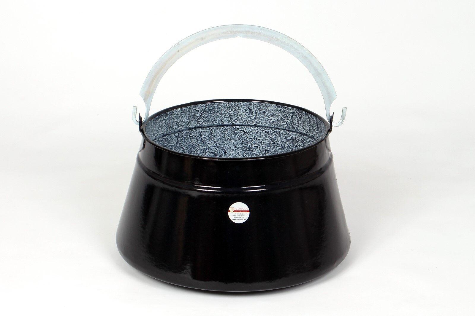 Gulaschkessel rustikal emailliert 30l schwarz granit (Fischkessel) (Fischkessel) (Fischkessel) 67fba4