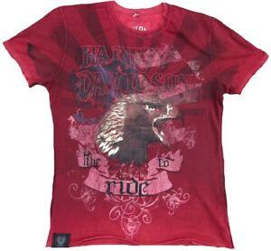 Authenic-H-D-CUSTOM-HARLEY-DAVIDSON-Live-to-Ride-Eagle-Strass-Biker-T-Shirt-S