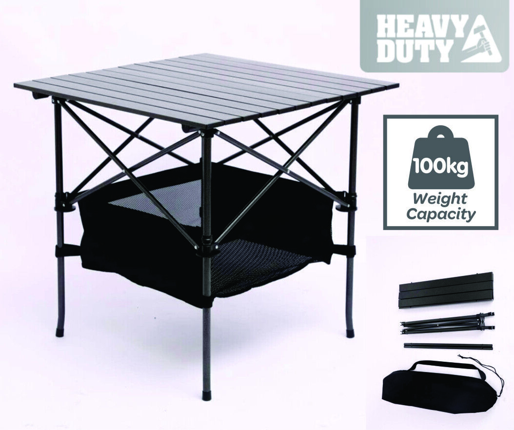TRA Aluminium & Steel Folding Portable Picnic Outdoor Camping Table  BBQ Party  free delivery