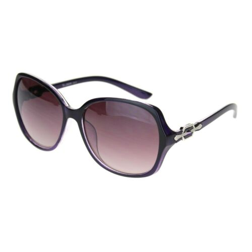Womens 90s Jewel Chain Buckle Rectangle Butterfly Sunglasses