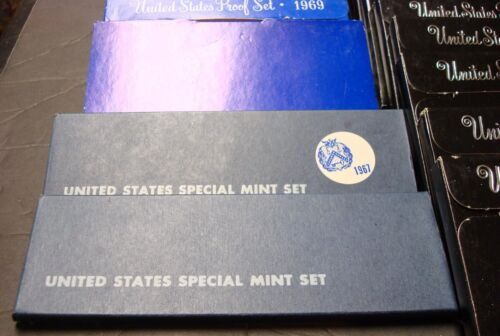 """/""""34 TOTAL/""""  1965 TO 1998  PROOF//SMS SET REPLACEMEENT BOXES WITH COA /""""NO COINS/"""""""