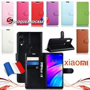 Etui-coque-housse-Cuir-PU-Leather-case-cover-skin-pour-XIAOMI-Redmi-7-Note-7