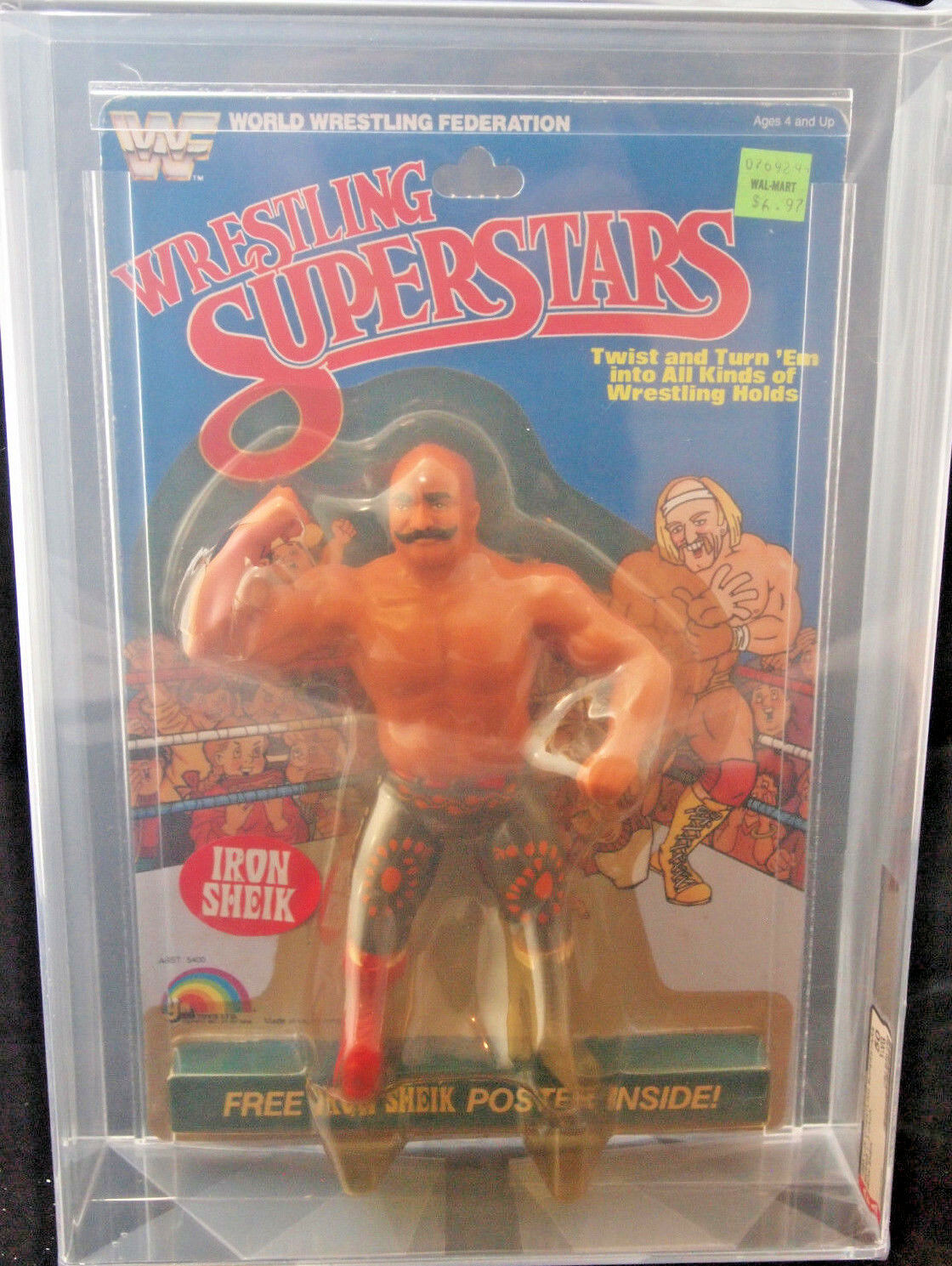 1985 LJN WWF WRESTLING SUPERSTARS IRON SHEIK SERIES 1 AFA 50 Y-VG