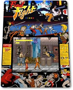 Final-Fight-Classic-Capcom-Arcade-Marquee-Game-Room-Wall-Decor-Metal-Tin-Sign
