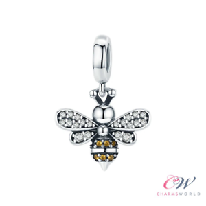 ab651c5d97cd1 Details about Queen Bee Charm 925 Silver for Charm Bracelet 🐝