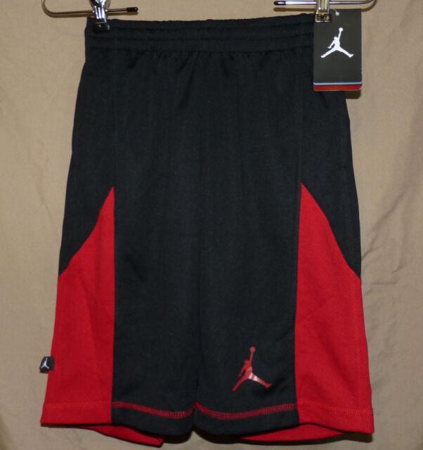 304542a9e08c NIKE AIR JORDAN JUMPMAN BOYS dri-fit black w red basketball shorts sz M -