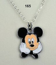 Disney Mickey Mouse pendant necklace on silver-plated chain - nice gift!