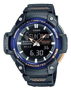 Casio-SGW-450H-2BER-Orologio-Uomo-Altimetro-Barometro-Termometro-5-Sveglie-Timer