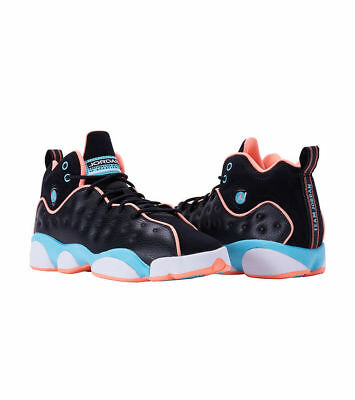 WOMEN/'S AIR JORDAN JUMPMAN TEAM II BLACK CRIMSON PULSE YOUTH GS SOUTH BEACH