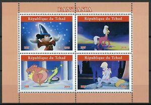 Chad-2019-Gomma-integra-non-linguellato-fantasia-Mickey-Mouse-4v-M-S-II-Disney-Cartoni-Animati