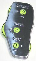 M^powered Baseball Umpire Indicator Sleek Metal Design With Neon Spin Disk