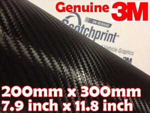 20x152cm Ultra Negro Brillante 5D Fibra de Carbono Autoadhesivo Vinilo Vehículo