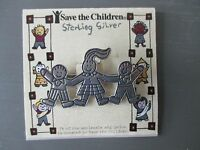 Vintage Sterling Silver save The Children Brooch/pin Signed Efs 925 Mexico