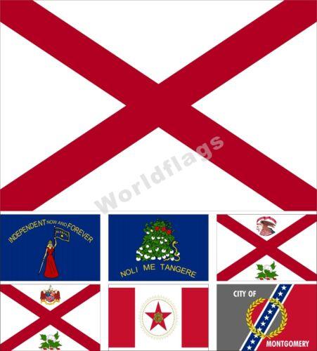 USA State Alabama Flag 3X5FT Historical Birmingham Montgomer City Governor
