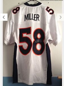 buy popular 5cc7b ea39e Details about Denver Broncos authentic reebok Von Miller autograph rookie  jersey super bowl 50