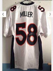 buy popular 89a34 97205 Details about Denver Broncos authentic reebok Von Miller autograph rookie  jersey super bowl 50