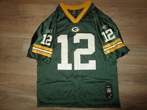 new arrival 2cc7a 997d7 Details about Aaron Rodgers #12 Green Bay Packers NFL Super Bowl Jersey  Youth L 14-16 children