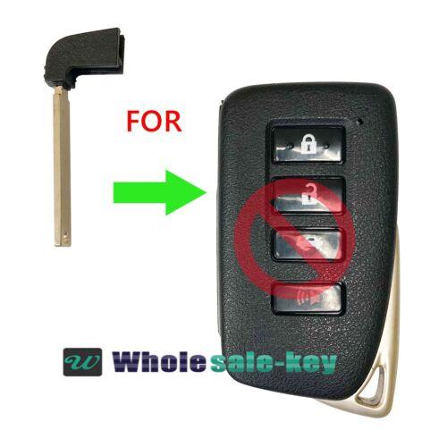 New Smart Insert Remote Emergency Key Blade Uncut For Lexus HYQ14FBA