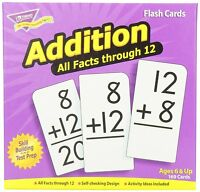 Addition 0-12 (all Facts) Flash Cards , New, Free Shipping on sale