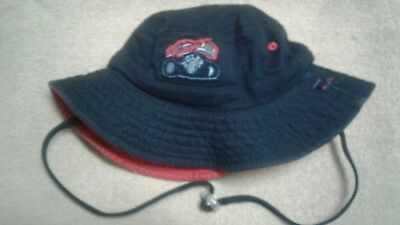 Dozer Boys Bucket Brock Navy Red Reversible Beach Sun Hat UPF 50 2-5 Yrs Size S