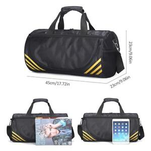 4984b02d20cd Men Women Travel Outdoor Luggage Large Gym Duffle Sport Shoulder Bag ...