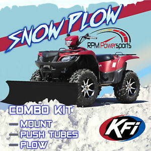 Kfi Atv 50 Flex Blade Plow Kit Combo Yamaha Bruin Grizzly Kodiak 350 400 450 Ebay