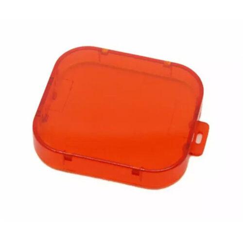 Plástico Rojo Frente Color Filtro Tapa De Lente Con Capucha Para Gopro Hero 3 4 Cámaras
