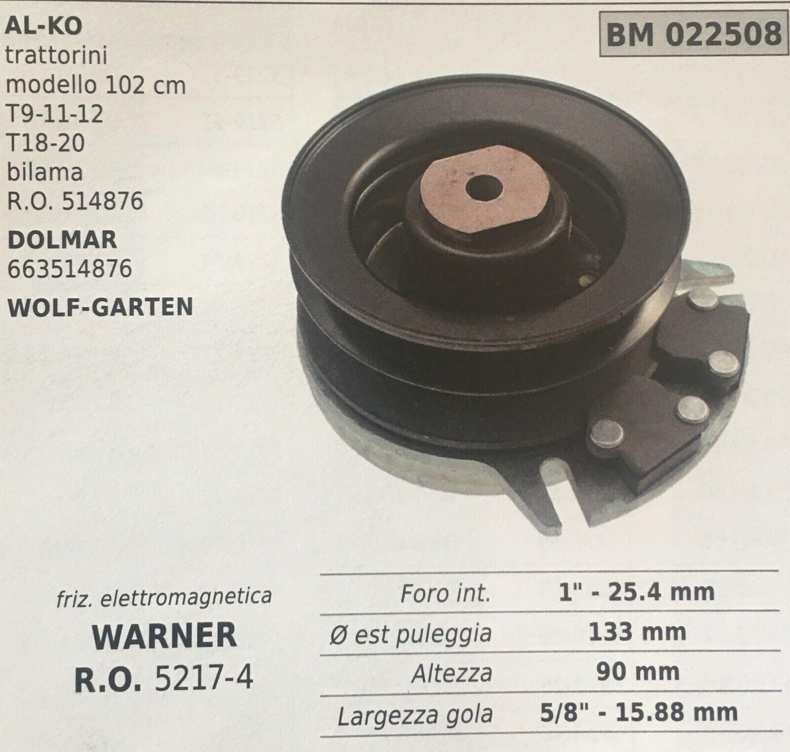 FRIZIONE ELETTROMAGNETICA BRUMAR BM022508 AL-KO DOLMAR - WOLF-GARTEN