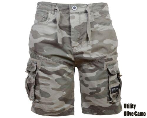 """42/"""" NUOVA linea uomo Crosshatch In Tela//Cargo Pantaloncini Di Jeans//mimetico con tasche vita 32/"""""""