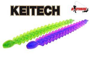 Soft-Lures-Fishing-Keitech-CUSTOM-LEECH-3-034-Jig-Heads-Drop-Shot-Perch-Chub-Bass