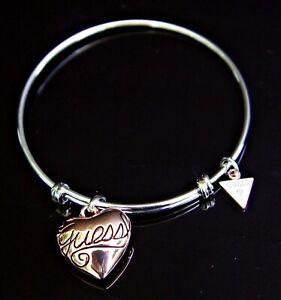 guess ubb21010 armband mit anhänger farbe silber rosegold neu