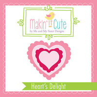 Makin' It Cute Plastic Template Set Hearts Delight By Me & My Sister