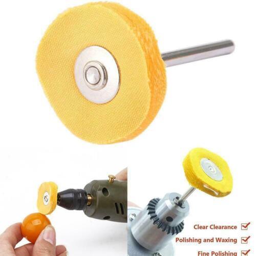"1Pc 1/""Yellow Polishing Cotton Cloth Wheel Brush Rotary Tool WJ Buffing Us I7T9"