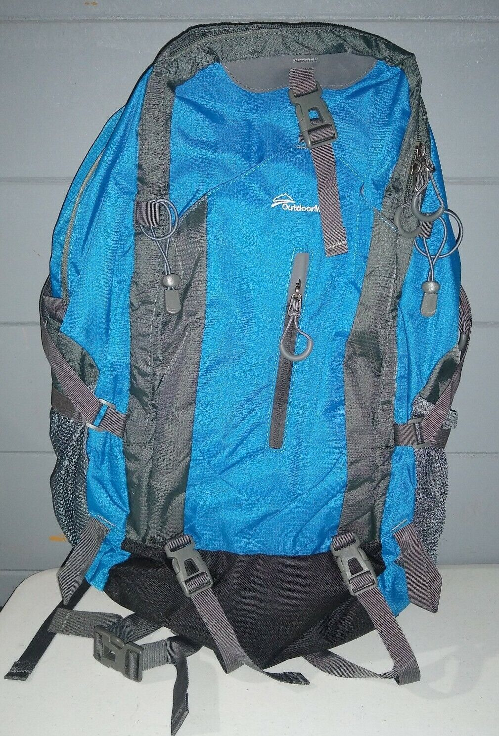 OutdoorMaster Blue Backpack Travel Hiking Camping Bag NWOT rainfall evidence - s l1600