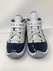competitive price e7c2b 1f5b4 Details about Air Jordan 11 Retro Concord Big kids ... Size 9 C blue and  white, Slightly Used