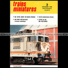 TRAINS MINIATURES N°3 BB 4100/4600, AUTORAIL DE DIETRICH X 3702, BB 16703 JOUEF