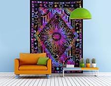 Indian Mandala Tapestry Hippie Wall Hanging Bohemian Bedspread Dorm Decor....