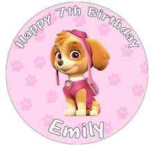 "Paw Patrol Skye Personalised Cake Topper 7.5"" Birthday Edible Wafer Paper"