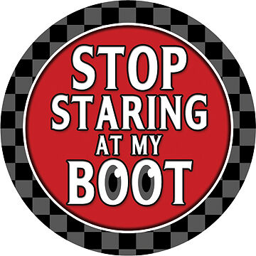 Stop Staring at my Boot MINI Cooper Magnetic Grill Grille Badge