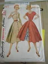 Vintage 1950's Simplicity 3815 Dress & Petticoat Pattern - Size 14 Bust 32