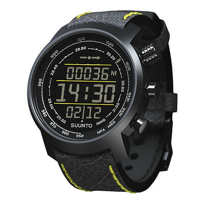 Suunto Elementum Terra Black/Yellow Leather Men's Watch - SS019997000