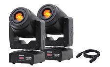 2 x Equinox Fusion 100 Spot 80w Bianco LED DMX DJ discoteca Stage Lighting Pacchetto