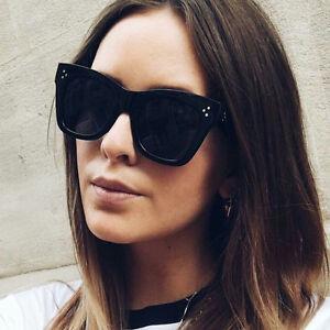 1794722d9e9 Image is loading Women-Flat-Top-Sunglasses-Vintage-Glasses-Fashion-Rivet-