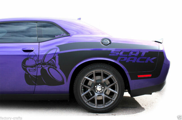 Vinyl Decal Rear Side Scat Pack Wrap Kit For Dodge Challenger 15 16
