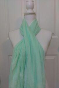 Merona-Scarf-Mint-Green-Lightweight-Spring-Polyester-70-x-38-NWT