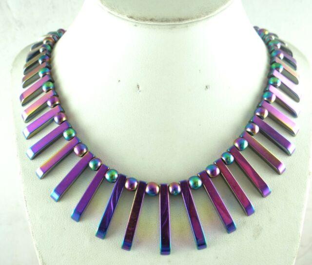 41pcs  Beautiful Titanium Hematite pendant Gemstone beads Handmade necklace C3