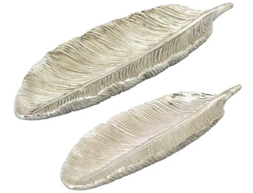 Landhaus Shabby Feder Schale silber