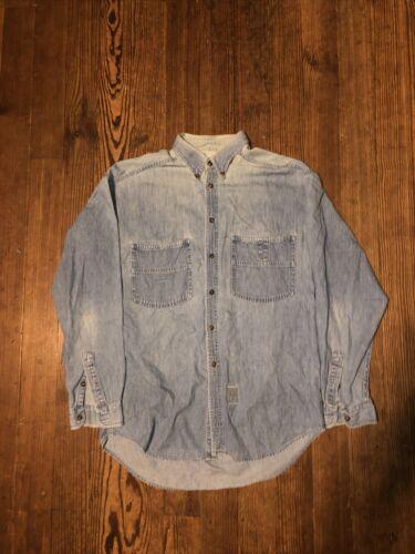 "Vintage Levis ""Big E"" Denim Shirt Size Medium"
